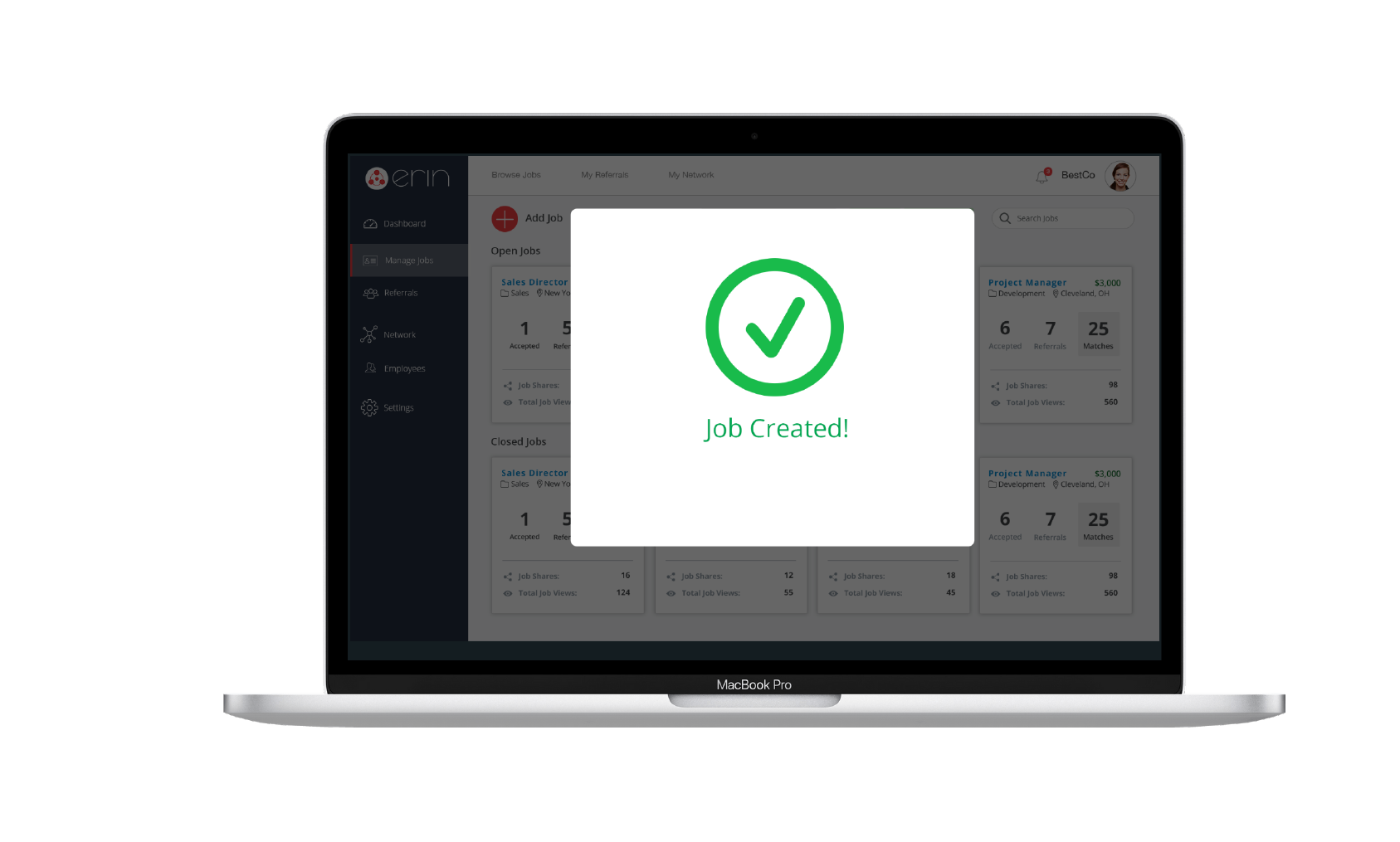 ERIN Employee Referral Software Platform